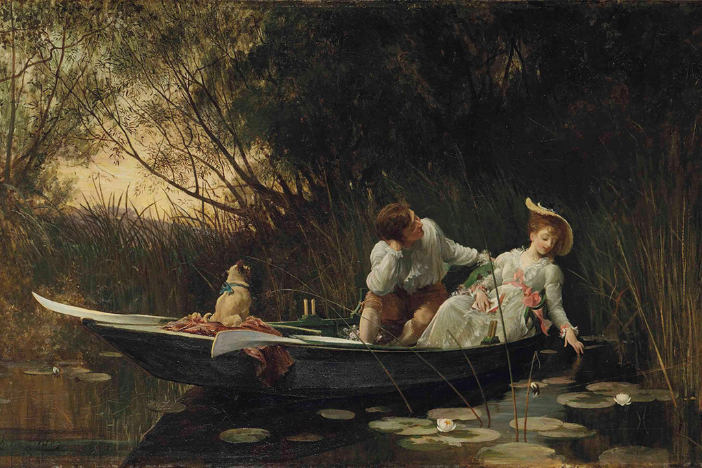 Samuel Luke Fildes (English, 1843-1927), Simpletons (The Sweet River)